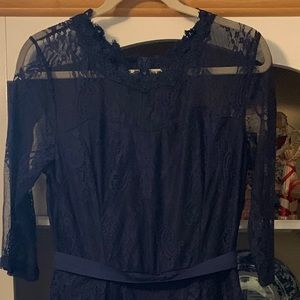 Navy blue and lace jumper